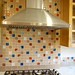 Stove top gas range and hood