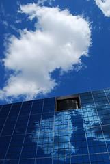 solar panel(0.0), cloud(1.0), sunlight(1.0), solar energy(1.0), solar power(1.0), light(1.0), electricity(1.0), reflection(1.0), blue(1.0), sky(1.0),