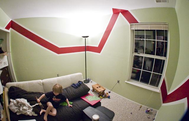 Room Paintings Kids Room Random Design And Angles The Tri