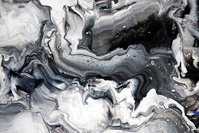 Black Amp White Fluid Painting Flickr Photo Sharing