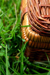 Wicker Picnic Basket Grass 6-1-09 4