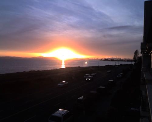Blazing Sunset over San Francisco