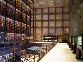 Yale Beinecke Library - interior stacks view - SOM