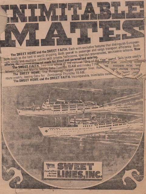 "Sweet Lines ad - ""Inimitable Mates"" (Sweet Home and Sweet Faith)"
