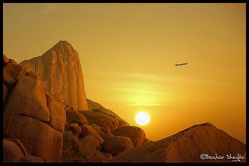 sunset mountain landscape sudan rocky taka totil kassala awitla