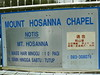 Mount Hosanna Opening Hours