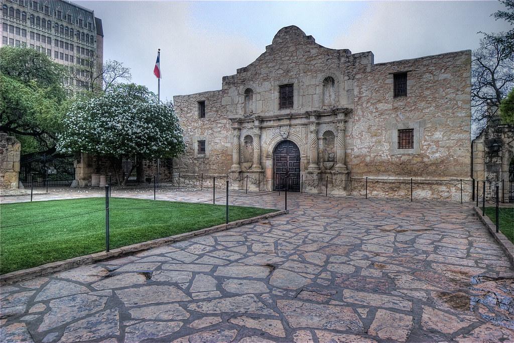 The Alamo on a Rainy Day