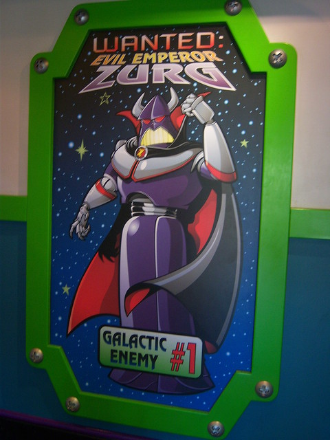 Emperor Zurg Wanted Poster Inside Buzz Lightyear Astro