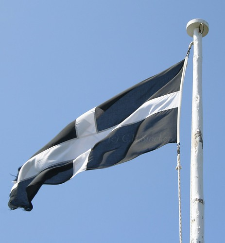 St.Piran's Flag - Cornwall - Kernow by Stocker Images