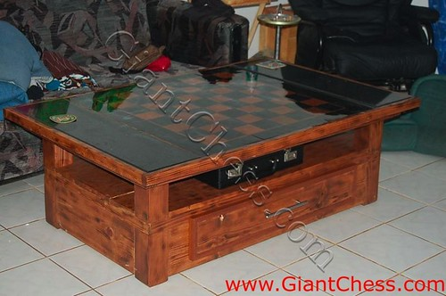 20 cm chess board on coffee table indoor and outdor