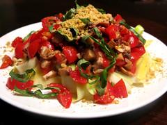 tostada(0.0), produce(0.0), panzanella(1.0), salad(1.0), vegetable(1.0), food(1.0), dish(1.0), cuisine(1.0),