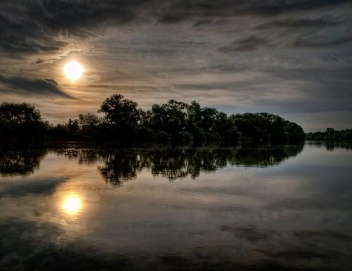 sunrise river germany main fluss hdr hesse seligenstadt batram
