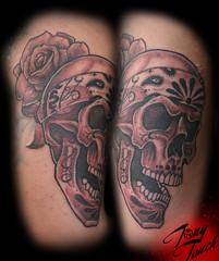 Skull with Bandana Tattoos