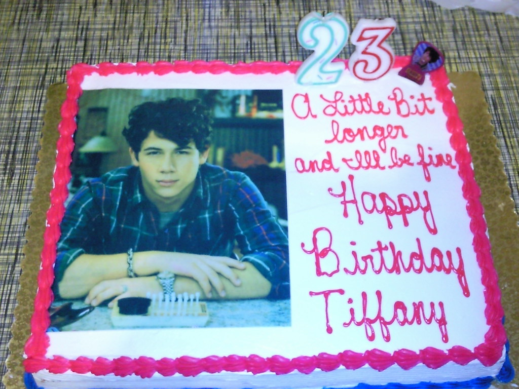 Tiffanyfaith1986 Nick Jonas Diabetic Birthday Cake