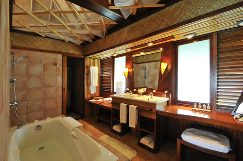 InterContinental Bora Bora  Le Moana Resort bungalow bathroom