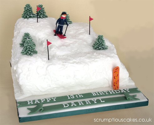 Birthday Cake (250) - Skiing