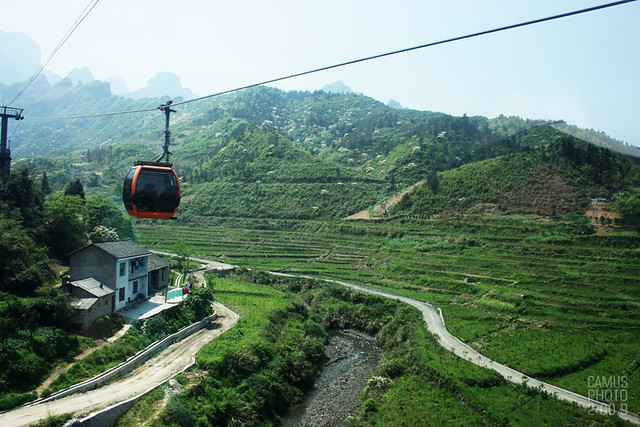 by Cableway to the Tianmen Mountain