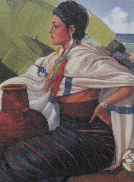 Mixtec Woman Oaxaca This Painting By Artist Mariano