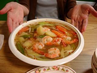 House special shrimp & vegetable soup - Saigon Grill