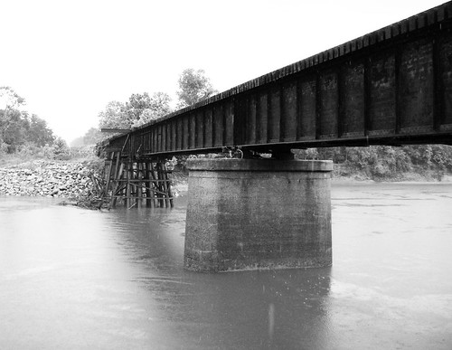 railroad bridge trinity river kenefick texas train railway structural steel trestle black white blackandwhite blackwhite bw b w pontist united states north america