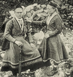 Sami girls from Telemark Norway Late 1800