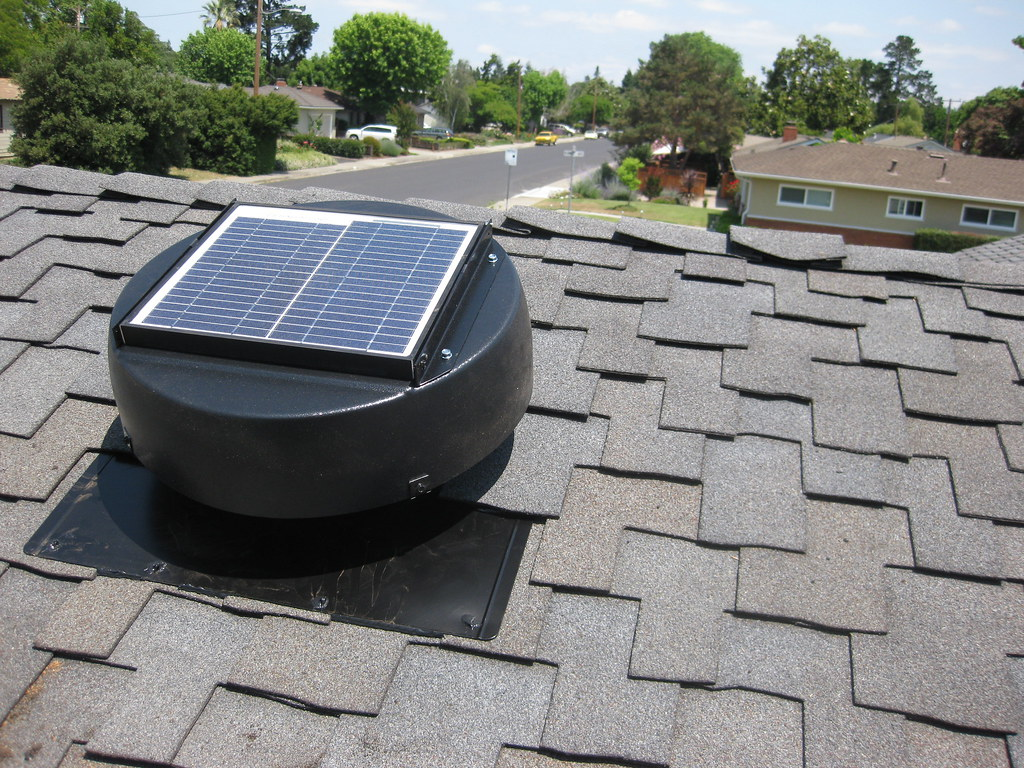 solar powered attic fan