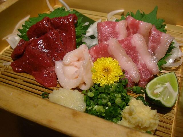 桜肉(飯場, 銀座) Horse meat Sashimi