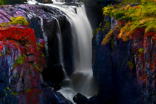 longexposure river dark evening waterfall newjersey lowlight colorful greatfalls cliffs patterson passaic