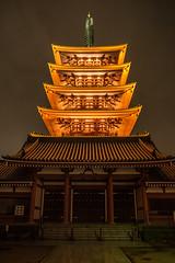 Five-story pagoda light-up