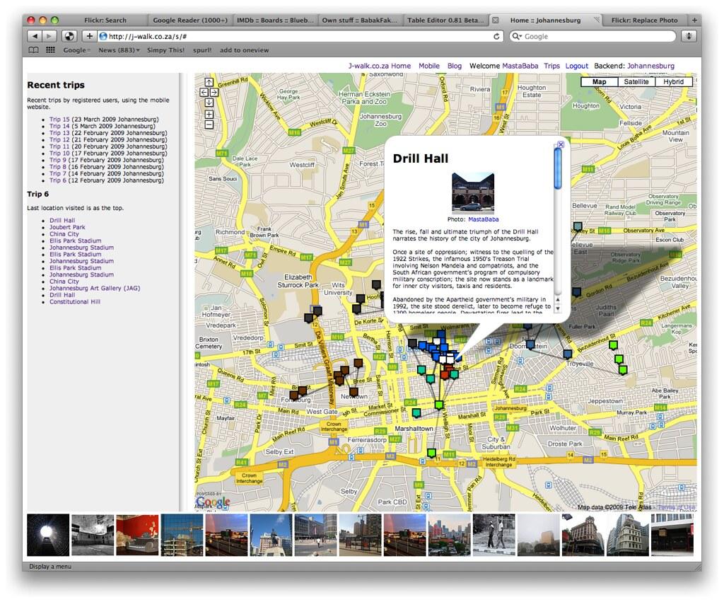 J-walk.co.za screenshot