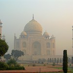 The beautiful symmetrical Taj Mahal