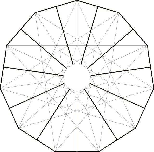 hendecagram twist star 4