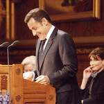 President Sarkozy addresses Members of Parliament