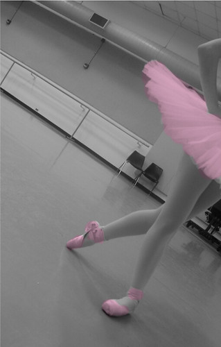 tutu and pointe shoes