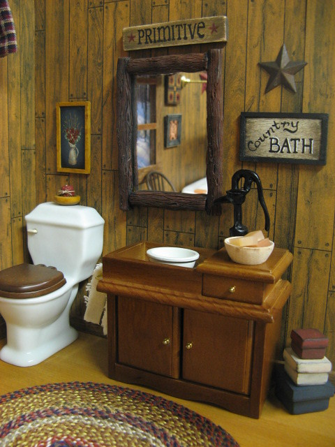 Primitive Bathroom Decor Dollhouse Country Bath Primitive Flickr Photo