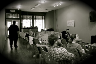 Shot during a presentation on jQuery