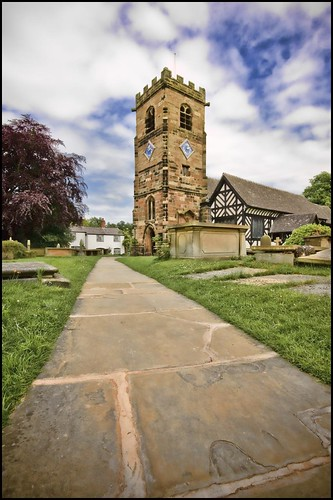 St Oswald's Church in Lower Peover, Cheshire