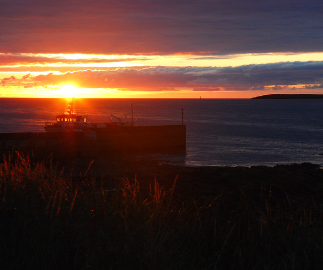 John O Groats Sunset and Boat