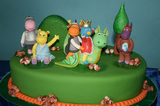 Backyardigans Medieval Cake All The Pieces Are Handmade