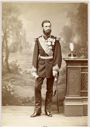 """Első román (uralkodó """" Domnitor csak 1881-ben király ) király 1866 *vagy 1881*.. ban készült foto , németorszagi herceg Hohenzollern csaladból"""