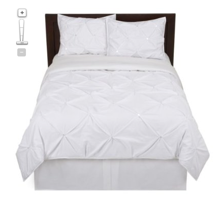 Targetkissing Pleat Comforter White Portable Toddler Bed