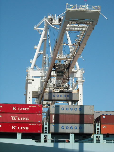 Container Crane in Use