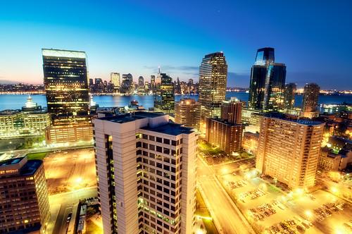 nyc newyorkcity longexposure newyork skyline sunrise geotagged dawn newjersey jerseycity cityscape hdr mudpig stevekelley