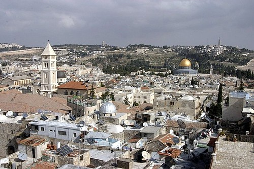 JERUSALEM and the Mount of Olives in the distance