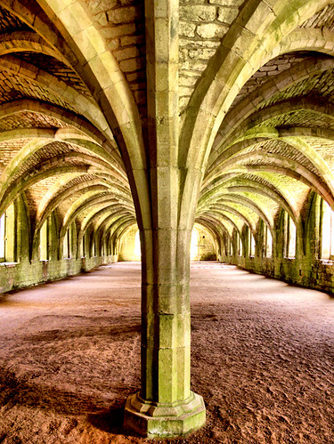 Fountains Abbey Cellarium, a different view.....