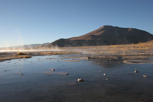 Termas de Polques hot spings lake