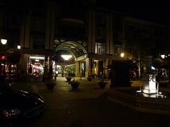 Santana Row in the night