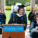 Graduate gives a speech by Mount Holyoke College Communications Office