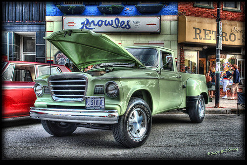 truck wow pickup studebaker hdr dunnville photomatix 3exp stude knowlesdiner dunnvillecruiserscarclub