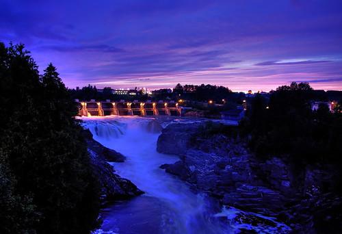 sunset holiday hometown hdr saintjohnriver grandfalls grandsault gfnb